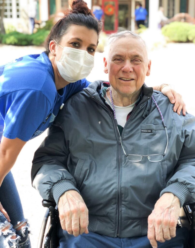 Caregivers provide daily assistance for residents